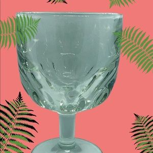 Thumbprint Lead Crystal Wine Glass Water Goblet